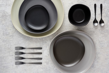 Still Life of Plates and Cutlery
