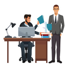Executive business coworkers isolated