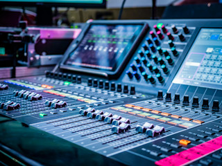 Remote sound engineer. Organization of the show. Concert organization. Concert equipment. Sound control panel.