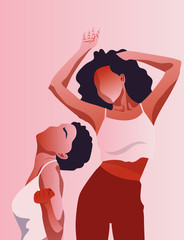 Frau, Tanzen, Liebe, Rot, Spaß