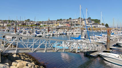 Port of Tréboul and town at Douarnenez, a commune in the Finistère department of Brittany in north-western France.