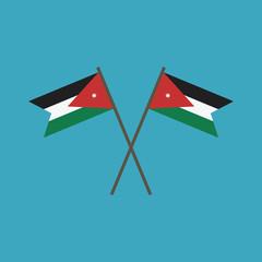Jordan flag icon in flat design
