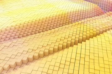 Shape composition, geometric structure blocks for design texture, background.
