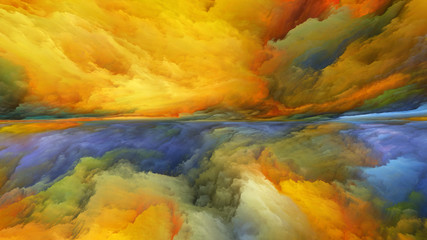 Virtual Life of Abstract Landscape