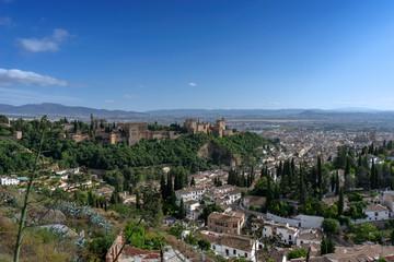 Alcazaba nazarí de la alhambra de Granada, Andalucía