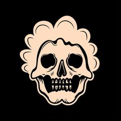 Skull baby, skull afro