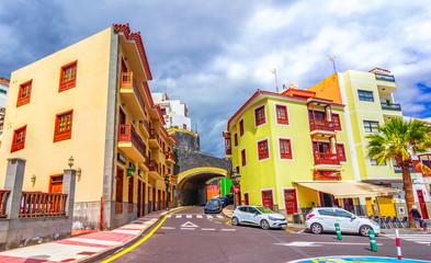 Candelaria,enerife, Spain: Street in Candelaria. Tenerife, Canary Islands
