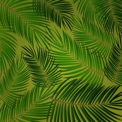 Foto op Canvas Tropische Bladeren Palm Leaf Vector. Seamless pattern. Background Illustration EPS10