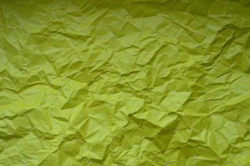 Texture crumpled paper yellow colors