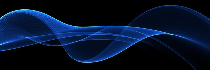 Abstract blue flow wave background Wall mural