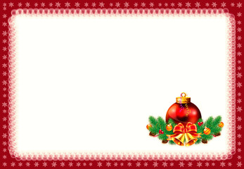 Christmas frame on white background