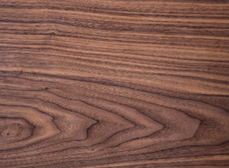 Wood texture of natural american black walnut tangential cut with oil wax finish