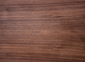 Wood texture of natural american black walnut radial cut with oil wax finish