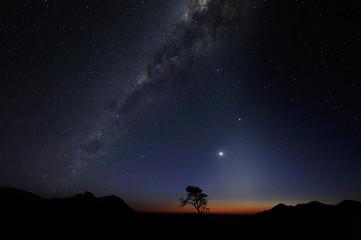 Milky way over the Namib desert