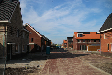 building of a new residential district named Esse Zoom Laag in Nieuwerkerk aan den IJssel in the Netherlands