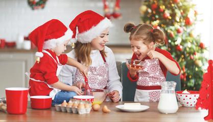 happy family bake christmas cookies