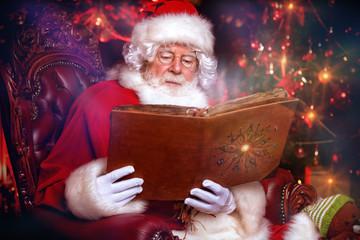 santa claus with album