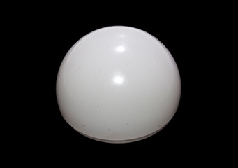 light bulb isolated on black background