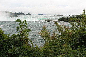 Niagara Falls above the Horseshoe falls