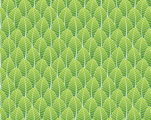 green leaves pattern seamless background for textile, decoration