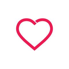 live heart simple geometric logo vector
