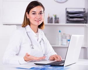 Female doctor offering help
