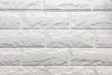 White Brick Wall Texture. Made From Foam.