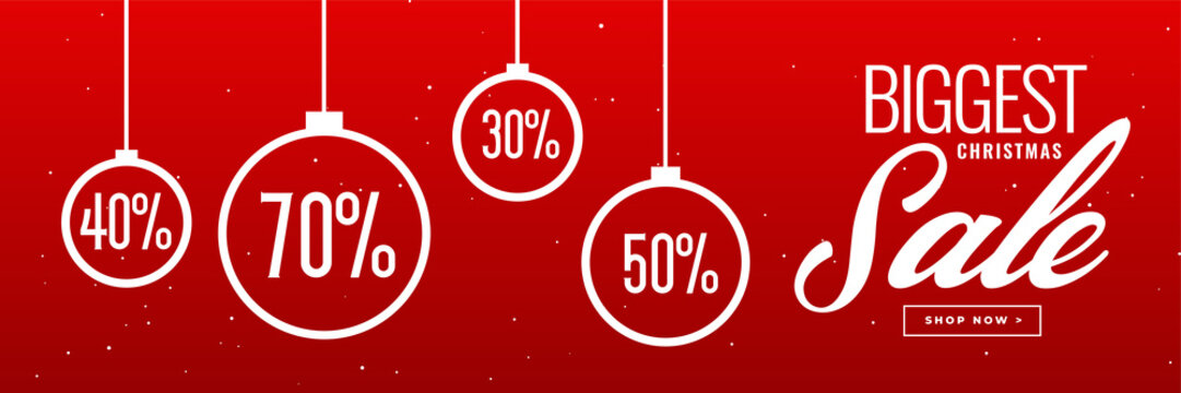 crazy christmas sale and discount banner design