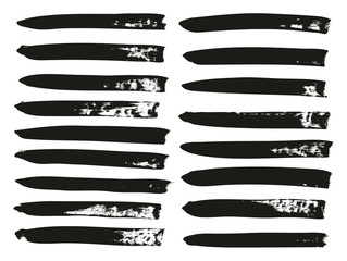 Calligraphy Paint Brush Lines High Detail Abstract Vector Background Set 106