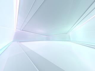 Fototapeta Abstract modern architecture background, empty open space interior. 3D obraz