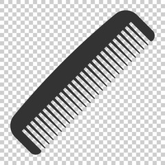 Hair brush icon in flat style. Comb accessory vector illustration on isolated background. Hairbrush business concept.