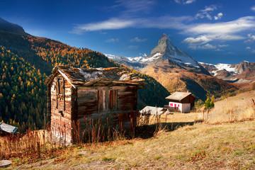 Ruined alpine house