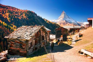 Architecture of Switzerland near Matterhorn