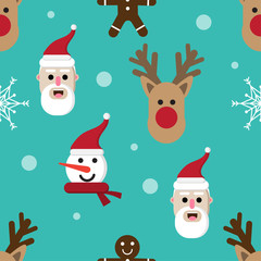 cartoon christmas holiday pattern seamless background