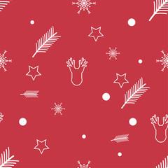 cartoon christmas holiday pattern seamless background