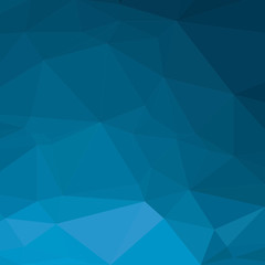 Abstract polygon blue background. Pattern composed of triangles.