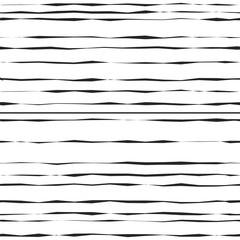 Seamless abstract geometric pattern with black hand drawn stripes.
