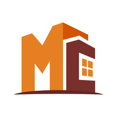 icon logo for the construction business, with combination of the initials M & C