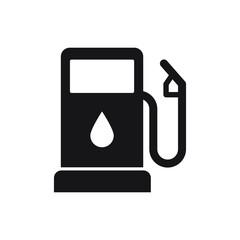 Gasoline pump icon, gas station sign, vector fuel sign