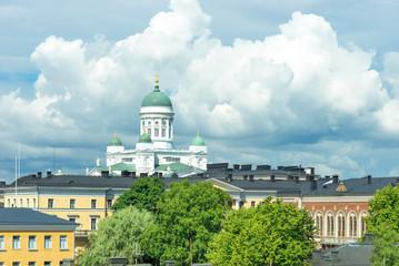 Stadtansicht von Helsinki mit dem Dom