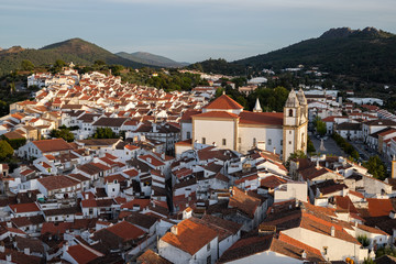view of town vide castle from the castle, Alentejo, Portugal