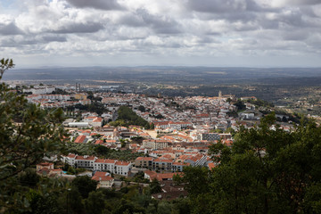 view of Portalegre from a viewpoint. Alentejo, Portugal.