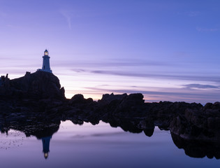 Blue Hour, coastal reflections, Corbiere, Jerry, Channel Islands