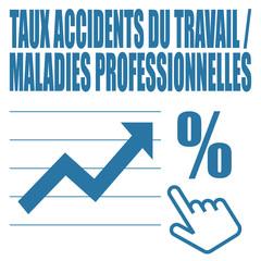Logo taux accidents du travail / maladies professionnelles.