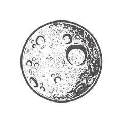 Illustration of the moon