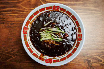 Jajangmyeon, Korean black bean noodle