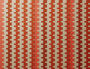 Abstract background of brown brick wall - Vector illustration.
