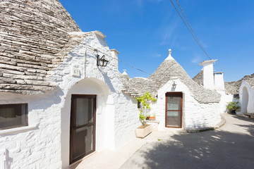 Alberobello, Apulia - Traditional art of local architechture in Italy