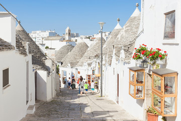 Alberobello, Apulia - Trulli street in the old town of Alberobello