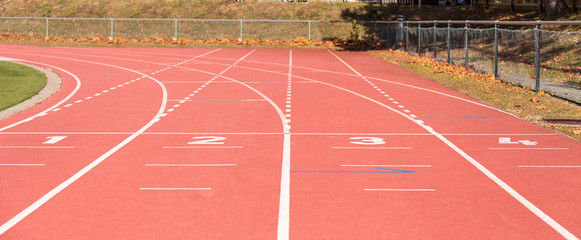 Running. Athletics. Stadium. Lines. Sport